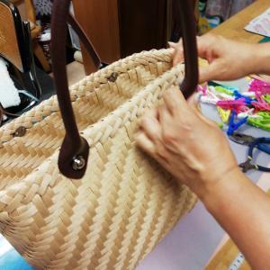 網代編みと石畳編み