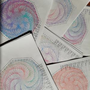 糸かけ曼荼羅数式表を6作品 販売します