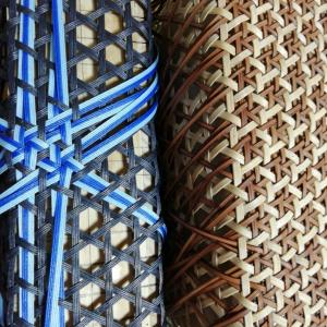 籐の編み方を真似て