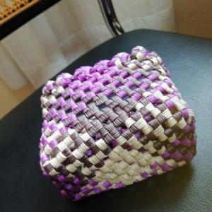 植田産業さんのライトで石畳編みを