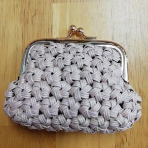 花結び編みでがま口財布