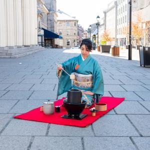 モントリオールの日本人起業家の方とコラボ着物撮影 : Covid生活 in Montreal
