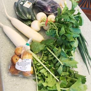 ☆KCCファーマーズマーケットの葉っぱつきお野菜☆