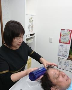 男性コラーゲン入り白髪染めカットシェービング¥8900税込