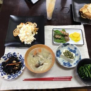 5/1金曜 厚揚げとレンコン