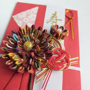 【つまみ細工】ご祝儀袋の花飾り