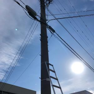 防犯灯の新設工事!