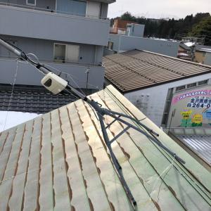 雪解け後のアンテナ修理