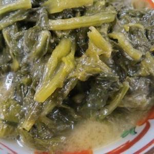 間引き大根の煮菜