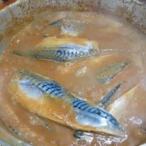 サバの味噌煮を作った