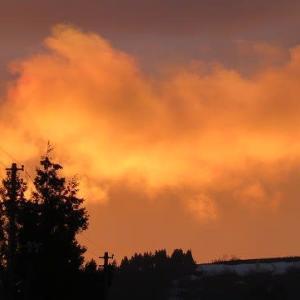 雲の夕焼け