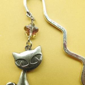 Week 334 - Antique Silver Cat Bookmark