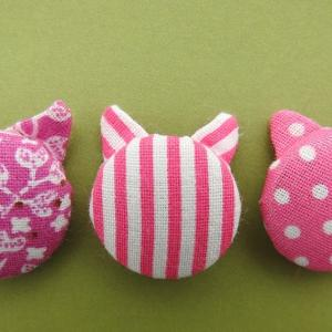 Week 311 - Pink Cat Buttons
