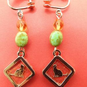 Week 312 - Resin Cat Clip Earrings
