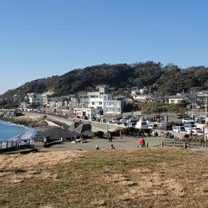 稲村ケ崎公園【風景】~逗子海岸方面【車窓】 湘南Landscape