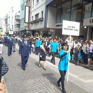 山本舞香1日警察署長 元町安全安心パレード