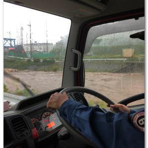 台風19号・河川の巡回 〜車両から〜