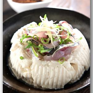 メシ通『魚介を使った簡単レシピ 』☆ 花椒ソースでつなぐ鯵のたたきと冷奴