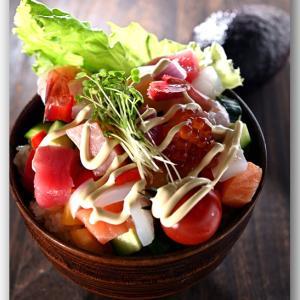 メシ通『魚介を使った簡単レシピ 』☆ お刺身の切り落としで居酒屋風な丼に!