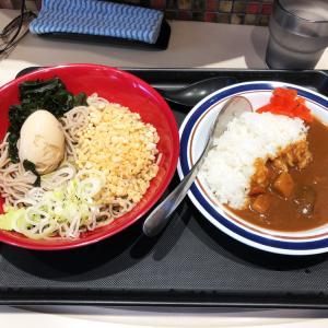 冷し味玉そばセット ミニカレー付きを食べてみた(番外編)〜名代 富士そば〜