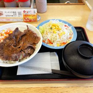 ビフテキ丼(にんにくごま醤油)彩り生野菜セットを食べてみた 〜松屋・期間限定〜