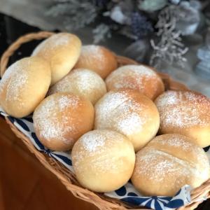 手作りパンで朝食を♪