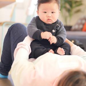 【伊勢崎市】赤ちゃんとママの触れ合い教室の様子