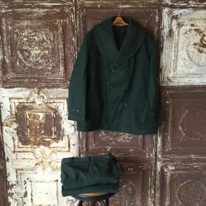 1941s Civil Conservation Corps Wool Mackinaw Coat & Wool Trousers