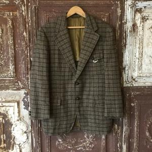 1960s 3pocket Belt Back Style Tweed Jacket