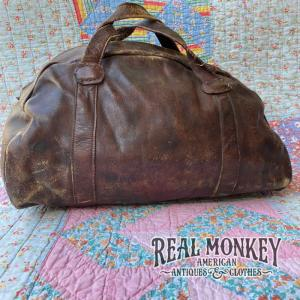 1940' LEATHER GYM BAG