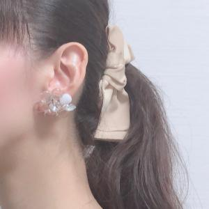 ◆◇ 夏にオススメガラスのお花イヤリング♪ ◇◆