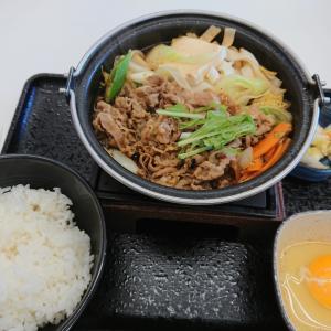 吉野家☆牛すき鍋膳