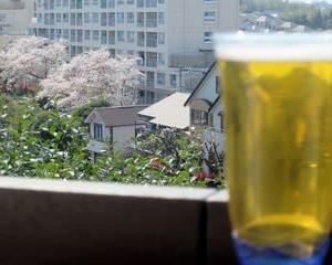 今年の桜見物:我が家のベランダから 2020.4.4