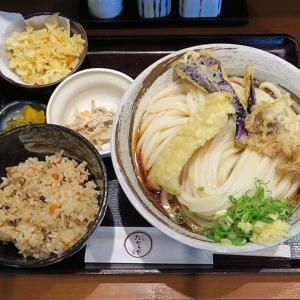 「うどん亭 たからや」-13 八尾南  ランチで天ぷらぶっかけ、炊き込みご飯☆  210717