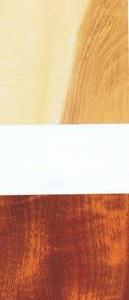 トチノキの板目板と塗装仕上げ