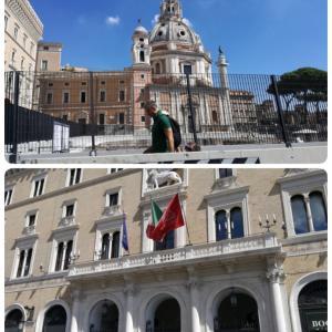 ヴェネチア広場とここにあるビシアの塔