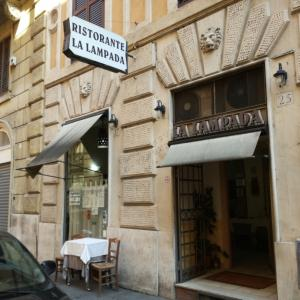 在ローマ日本大使館近くのシーフードレストラン