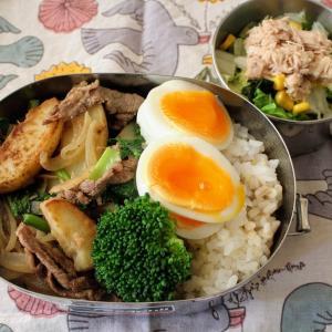 牛肉ポテト と ツナのホットサラダ。