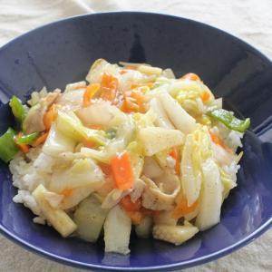 簡単♪中華丼 と ナムルのせ冷ややっこ。