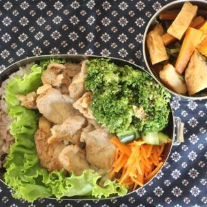 豚肉のおろし焼き と 刻み昆布とかぼちゃの煮もの/ブロッコリーのごまあえ。