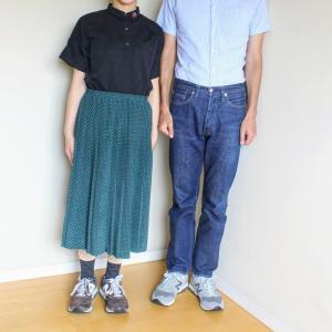 エヴァムエヴァのシャツとドットスカート。