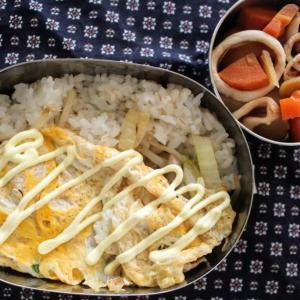 いかじゃが と 白菜のとんぺい焼き風。