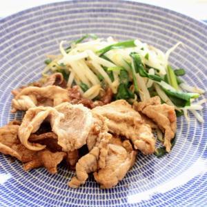 豚肉の梅照り焼き と 豆とひじきのサラダ。