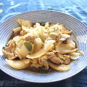 回鍋肉 と カニカマと青菜の中華スープ。