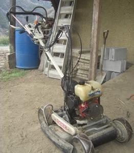 自走式草刈り機の修繕(応急措置)