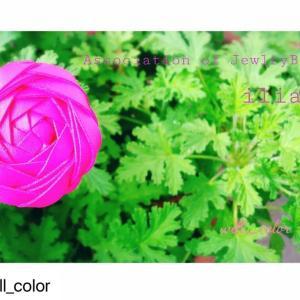 【レッスン作品】テープで作るお花が人気♡AJBイリア
