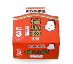 納豆3P特売★土日のみ★おかめ納豆3P、¥69(税込)です!!