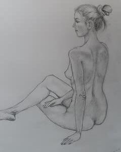 人物デッサン  久しぶりの裸婦