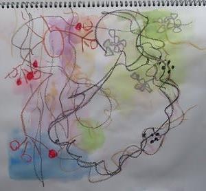 ドキドキ、ワクワク、オロオロ、ニコニコ・・・初めてのオンラインでの絵画教室