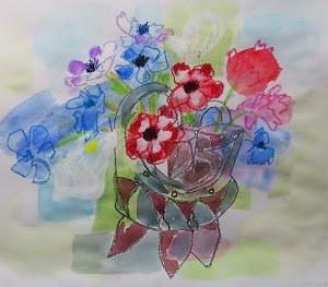 自由に描いて自由になる絵画教室 4月